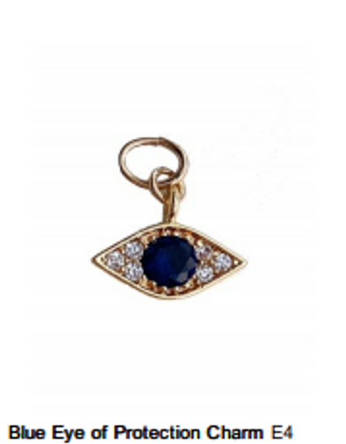 Blue Eye of Protection Charm