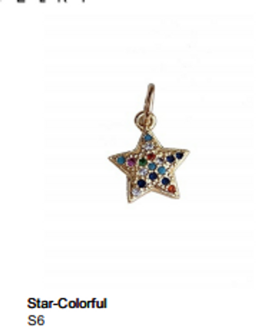 Colorful Star Charm