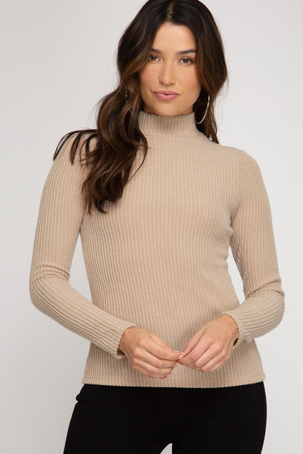 Keeping Along Taupe Top
