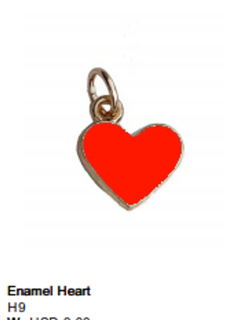 Enamel Red Heart Charm