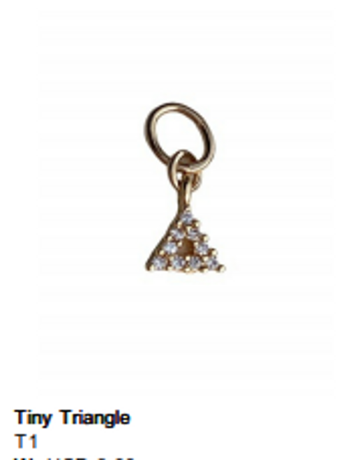 Tiny Triangle Charm