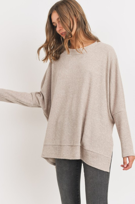 Keep Me On Your Mind Taupe Sweater