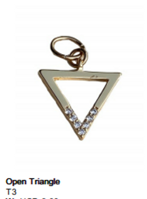 Open Triangle Charm