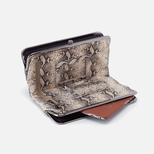 Lauren Snake Print Clutch Wallet