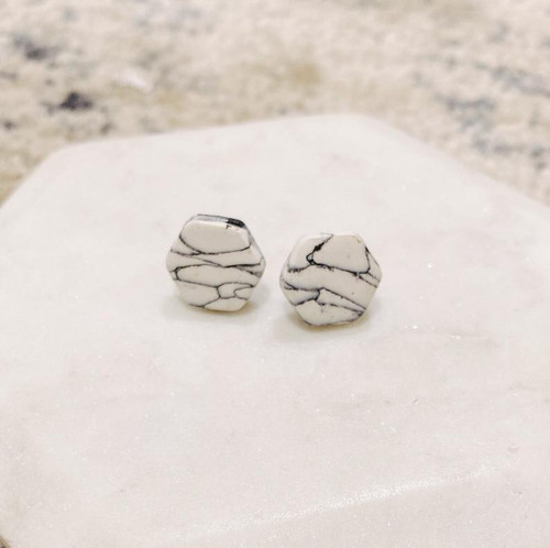 Marble Clay Studs