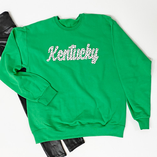 State Spotted Green Crewneck Sweatshirt