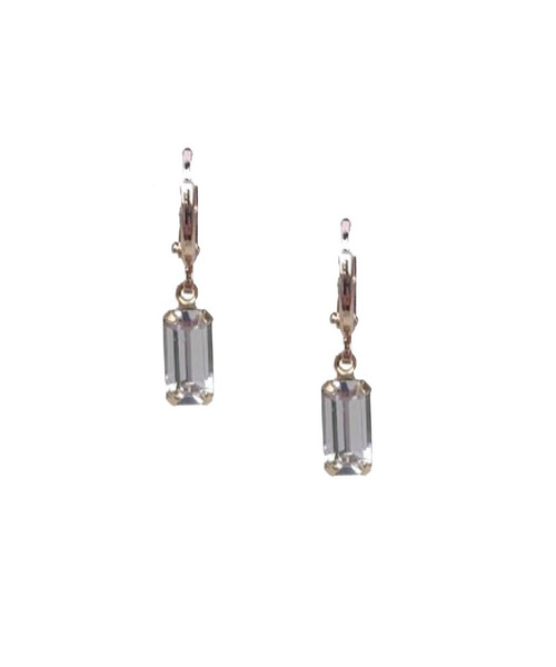 Baguette Gem Huggie Earrings