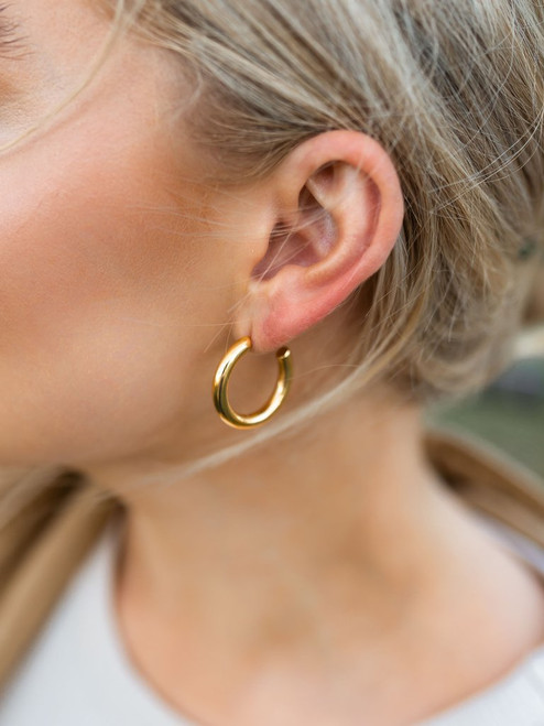 Chunky Medium Gold Hoops