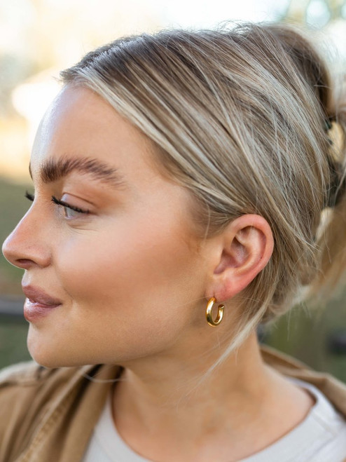 Chunky Small Gold Hoops