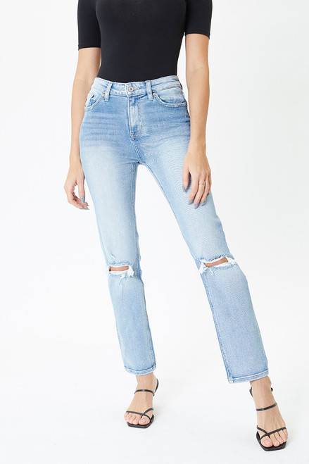 Carly High Rise Straight Jeans