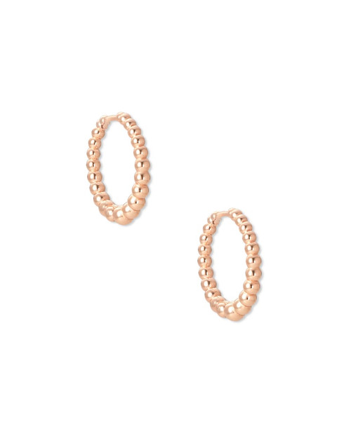 Josie Huggie Earrings In Rose Gold