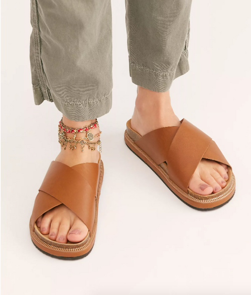 Sidelines Footbed Tan Sandals