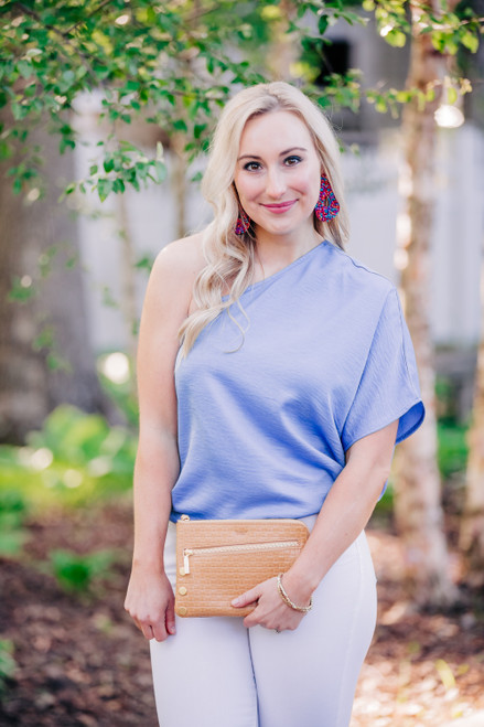 Willow Short Sleeve Chambray Top