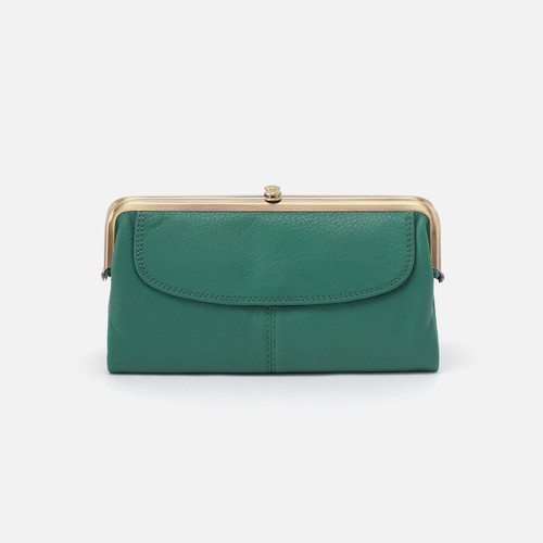 Lauren Garden Green Clutch Wallet