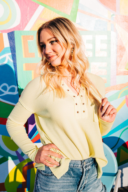 Main Attraction Neon Yellow Top