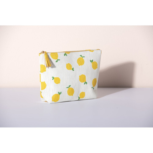 Capri Yellow Zip Pouch