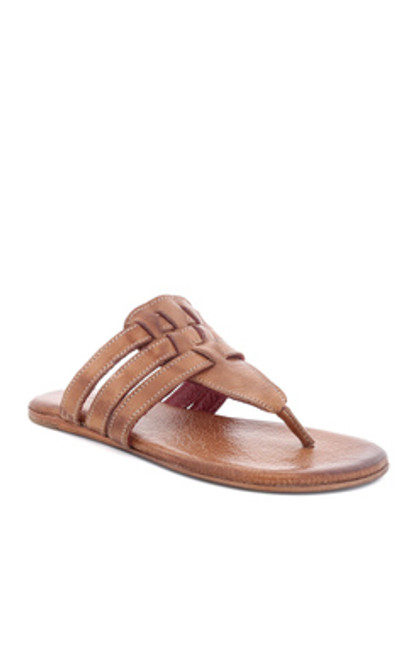 Yoli Tan Rustic Sandals