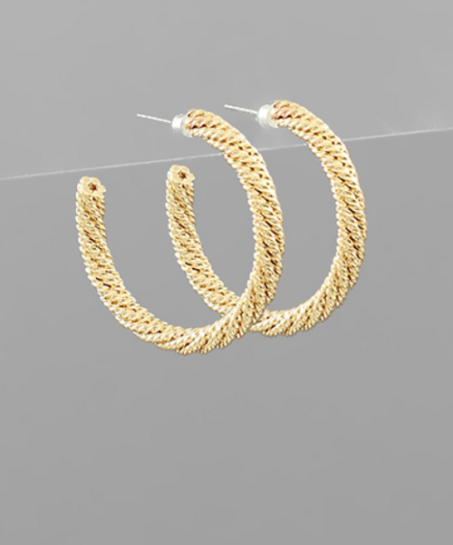 Twist of Fate Gold Hoops