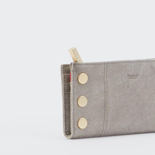 110 North Pewter/Gold Wallet