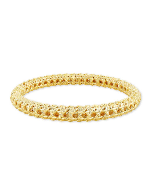 Natalie Hinge Bangle Bracelet In Gold
