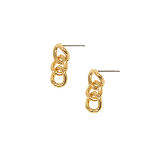 Madison Link Gold Earrings