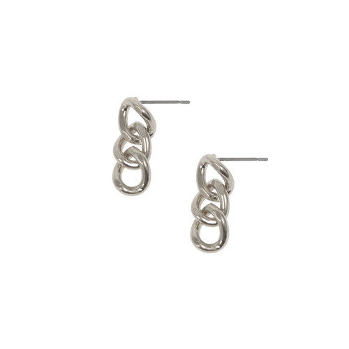 Madison Link Silver Earrings
