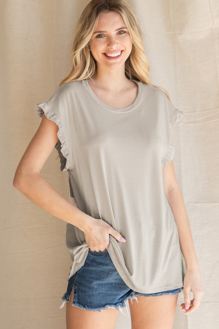 The Madison Taupe Top