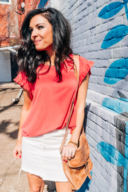 The Madison Red Top