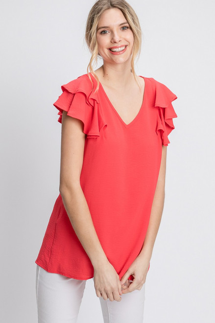 The Olivia Coral Top