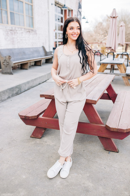 First Take Sand Jumpsuit