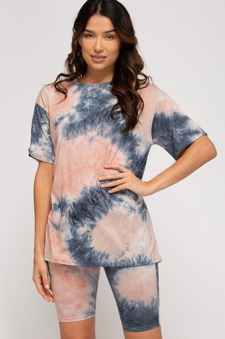 Catch The Grove Rose/Navy Top