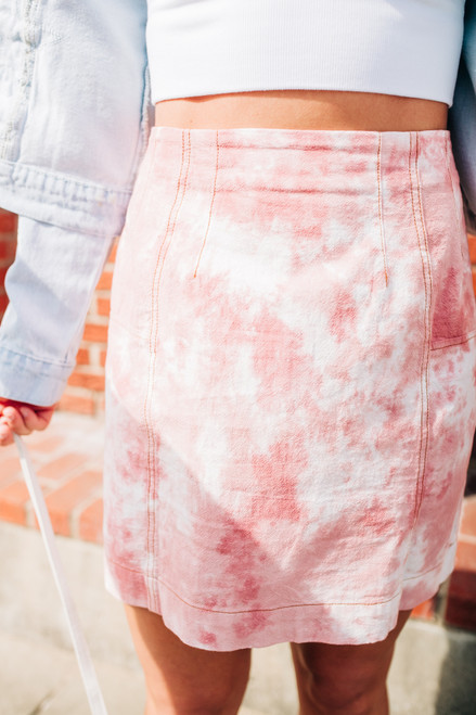 Pulling Out The Stops Light Pink Skirt