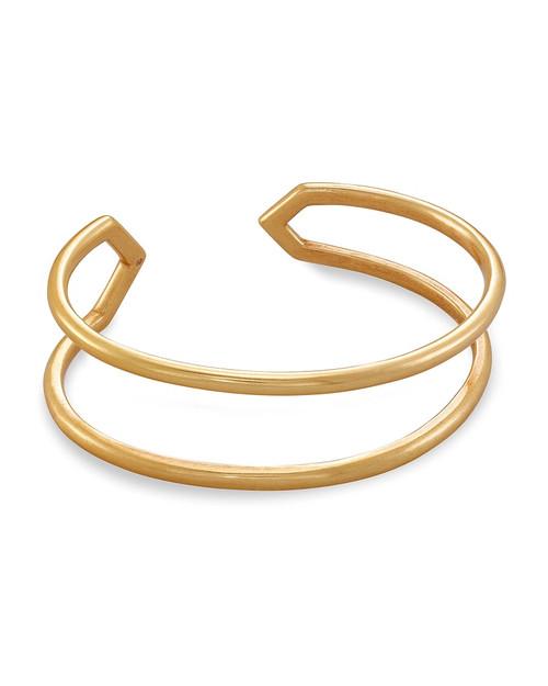 Mikki Cuff Bracelet In Vintage Gold
