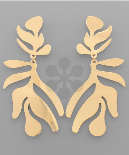 Jungle Fever Earrings Gold
