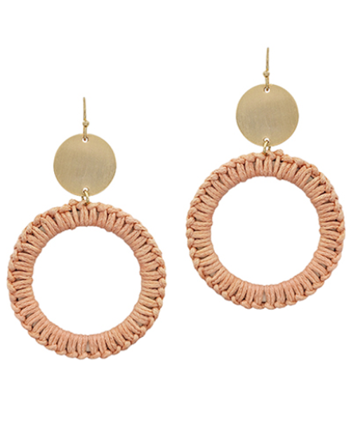 Stella Hoops Peach