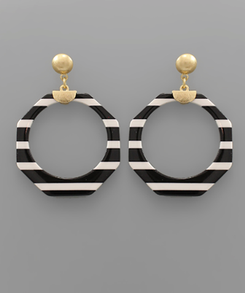 White Stripes Earrings