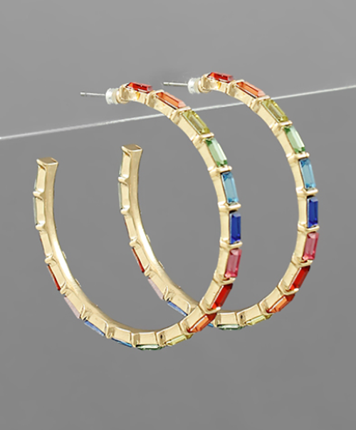 Wrapped in Jewels Hoops