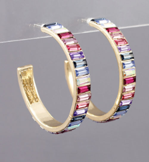 True Gem Hoops