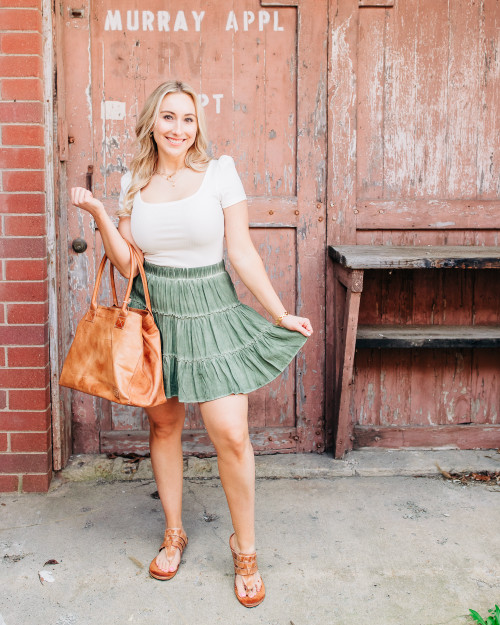 Simple Melody Green Skirt