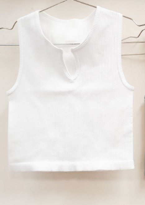 Can't Stop Me Crop White Tank