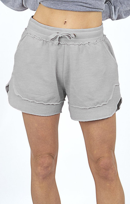 In A Trance Burnout Gray Shorts