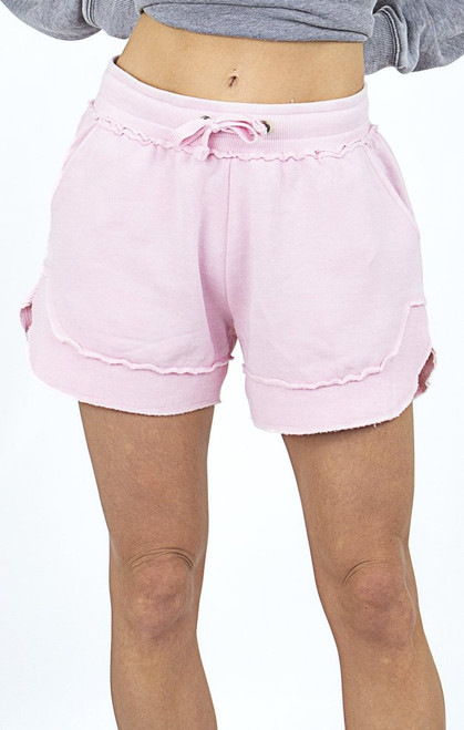 In A Trance Burnout Pink Shorts