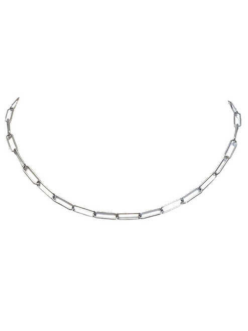Eden Paperclip Chain Silver Necklace