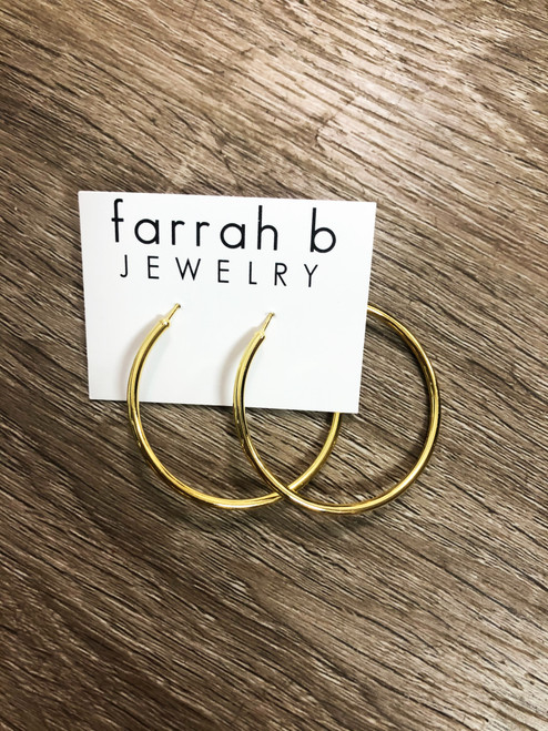 Medium Thin Gold Hoops
