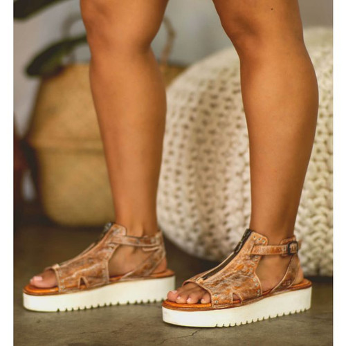 Clancy Tan Rustic White BFS Sandal