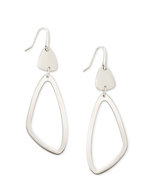 Kira Drop Earrings In Silver