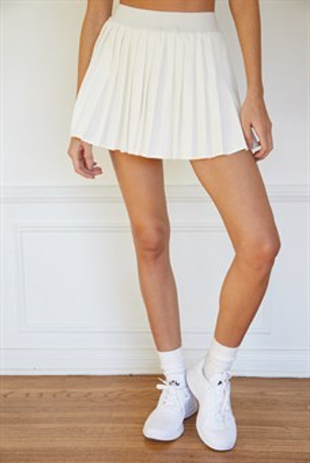 Catch Their Eye White Mini Skirt