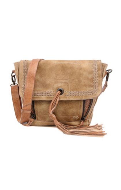 Whoopi Oats Tan Rustic Crossbody