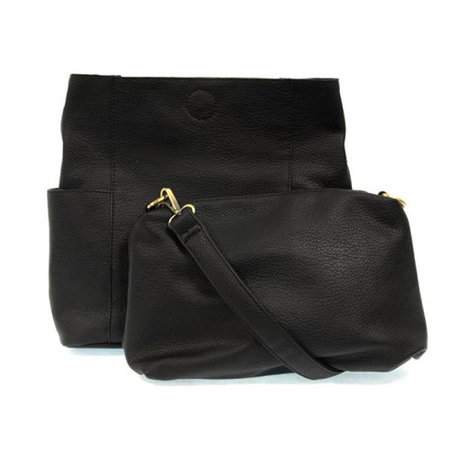 Kayleigh Black Side Pocket Bucket Bag