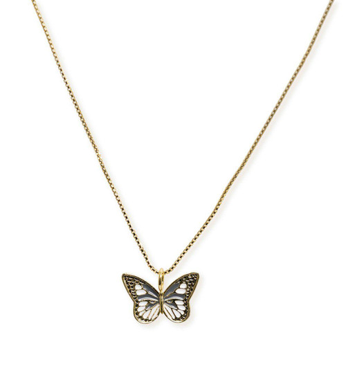 Shay Black Butterfly Necklace